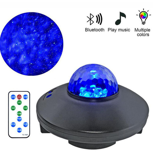 UFO Projector Light equipped with Laser, LED, Bluetooth for Christmas, Halloween, Candle Light Dinner, Occasion and Celebration (blue orb)