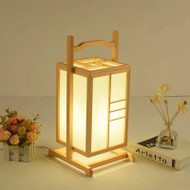 Modern LED Table Lamp Wood Floor Lamp Creative Art Personality Bedroom