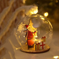 Merry Christmas Snow Globe Night Light Luminaire Christmas gifts idea (santa)