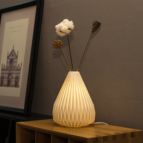 Nordic LED Table Lamp Ceramic PVC Flower Arrangement Bedroom ins from Singapore best online lighting shop Horizon Lights