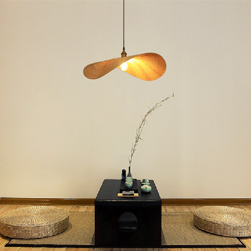 Creative Chandelier Woven Lampshade Japanese Lamp Bamboo Art Lamp Living Room Dining Room Overall