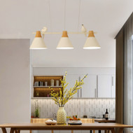 Nordic LED Pendant Light Wood Metal Creative Bird Restaurant Study Cafe Use of lights in dining room