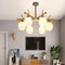 Nordic Style LED Pendant Light Atmospheric Metal Wood Living Room Dining Room