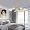 Postmodern LED Chandelier Light Creative Personality Metal Glass Dining Room Living Room Use of lights in bedroom