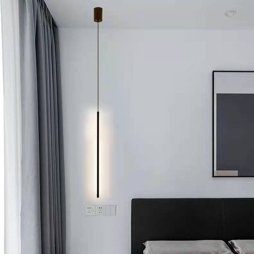 Nordic Style LED Pendant Light Line Shape Aluminum PVC Shade Bedroom from  Singapore best online lighting shop Horizon Lights