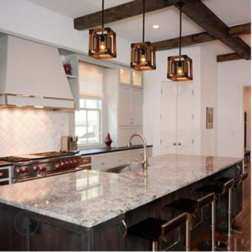 Retro Style LED Pendant Lights Loft Solid Wood Frame Restaurants Living Room