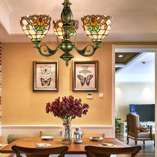 Tiffany Chandelier, American Chandelier light for Bohemian and Contemporary