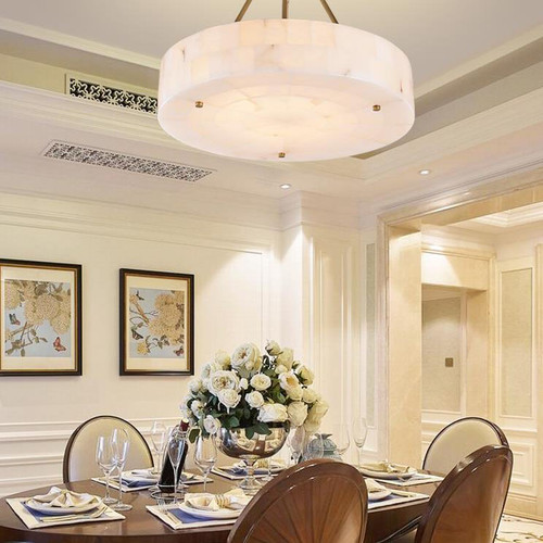 Modern LED Pendant Lights White Marble Elegant Illuminate Hallway