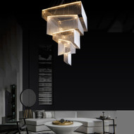 Esplanade, Luxurious Aluminum Wire LED Chandelier Lights Post-modern Hotel Decorate Restaurants