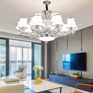Post-modern LED Chandelier Light Chrome Glass Living Room from Singapore best online lighting shop Horizon Lights