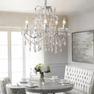 American Retro LED Chandelier Light Crystal Metal Living Room Dining Room from Singapore best online lighting shop Horizon Lights