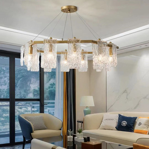 Post-modern LED Chandelier Simplicity Creativity Metal Glass Living Room Bedroom