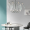 Post-modern LED Chandelier Simplicity Luxurious Metal Glass Dining Room Bedroom