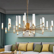 Post-modern LED Chandelier Creativity Personality Metal Glass Living Room Bedroom