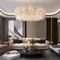 Post-modern LED Chandelier Crystal Light Round Elegant Luxury Living Room Bedroom from Singapore best online lighting shop Horizon Lights