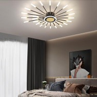 Modern LED Ceiling Lights Three Colors Metal Frame Acrylic Shade Bedroom