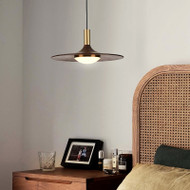 Nordic LED Pendant Light Creative Simple Wood Copper Dining Room Bedroom