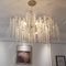 American LED Chandelier Light Creative Romantic Crystal Metal Dining Room Bedroom