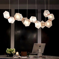 Post-modern LED Pendant Light Simple Creative Metal Glass Living Room Dining Room