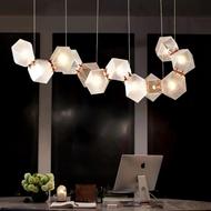Post-modern LED Pendant Light Simple Creative Metal Glass Living Room Dining Room