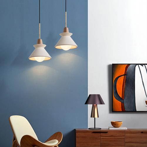 Nordic LED Pendant Light Creative Simple Resin Glass Living Room Bedroom