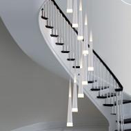 Modern LED Pendant Light Simple Elegant Aluminum Glass Living Room Dining Room