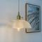 Nordic LED Pendant Light Retro Luxurious Copper Glass Dining Room Bedroom