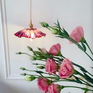 Nordic LED Pendant Light Creative Elegant Copper Glass Dining Room Bedroom