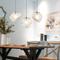 Nordic Pendant Light Creative Simple Metal Glass Living Room Bedroom