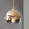 Nordic LED Pendant Light Simple Luxurious Metal Glass Bedroom Living Room
