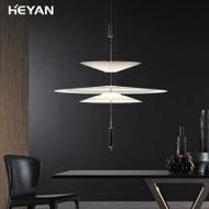 Modern LED Pendant Light Creative Simple Iron Aluminum Living Room Bedroom