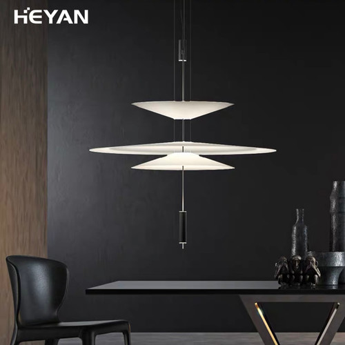 Modern LED Pendant Light Creative Simple Iron Aluminum Living Room Bedroom