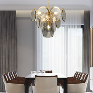 Post-modern LED Pendant Light Creative Luxurious Metal Glass Living Room Dining Room