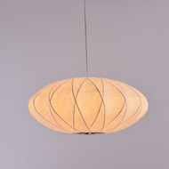 UFO Fabric LED Pendant Light Simple Living Room Hotel Decor from Singapore best online lighting shop Horizon Lights