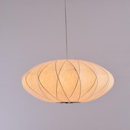 UFO Fabric LED Pendant Light Simple Living Room Hotel Decor from Singapore best online lighting shop Horizon Lights
