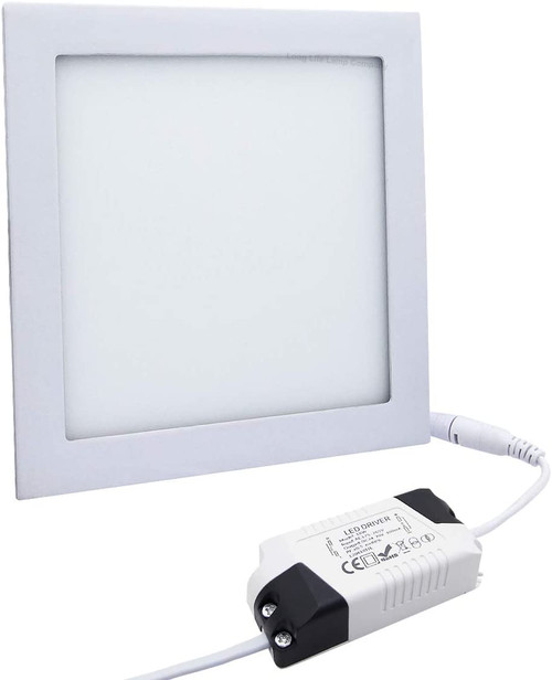 Square LED recessed panel downlight (front)