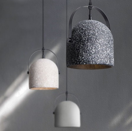 American country cement pendant light