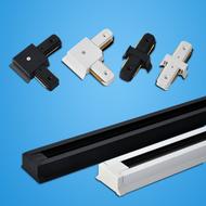 LED Spotlight Aluminum Track Strip / Joint , Second-Line Slide Groove Bracket Connector Home Business