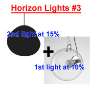 This is the front drawing. Modern Style Clear Glass LED Pendant Lights Philips LED Bulbs Similar to Artemide from Singapore best online lighting shop for pendant lights, horizon lights