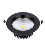 Black Circle COB recessed panel downlight