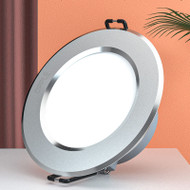 OPPLE LED Panel Light Silver Downlight Aluminum PC Recessed Mounted