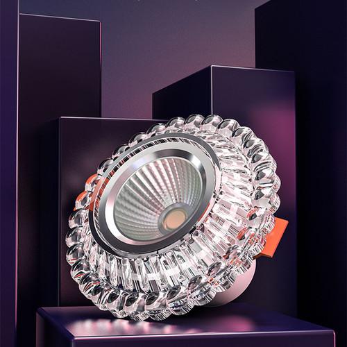 OPPLE LED Panel Light 4.5W Downlight Aluminum Glass Flower Shape Home Decor Auxiliary Lighting