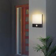 Waterproof LED Garden Wall Light Cuboid Aluminum Acrylic IP65 Sensor Switch