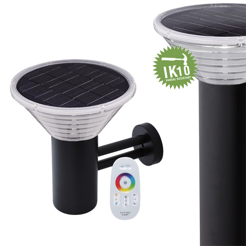 Polycarbonate Solar Led Bollard Light IP65 Outdoor Wall Garden Light for Modern