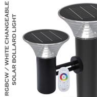 PC Aluminium Alloy Solar Led Bollard Light IP65 Outdoor Wall Garden Light for Modern
