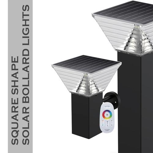 Polycarbonate Aluminium Alloy Solar Led Bollard Light IP65 Outdoor Wall Garden Light for Modern