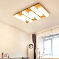 Key , Rubber Wood Acrylic LED Ceiling Light for Modern and Japanese