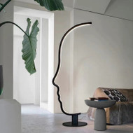 The face, floor lamp for modern and minimalism