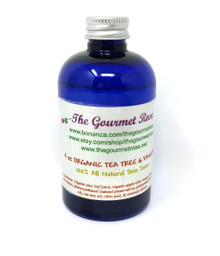 4 oz ORGANIC TEA TREE VINEGAR FACIAL TONER Face Astringent All Natural Anti Acne All Natural Apple Cider ALCOHOL FREE
