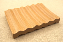 Lot of 10 LARGE WAVY SOLID BEECHWOOD SOAP DISH Beech Wood Handmade Dish Deck Tray Rectangle Natural Wooden Polished Sealed WHOLESALE BULK